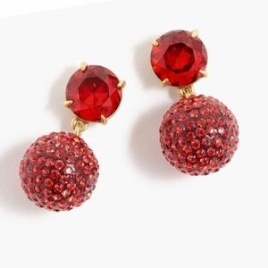 J.Crew pave and resin garnet drop earrings